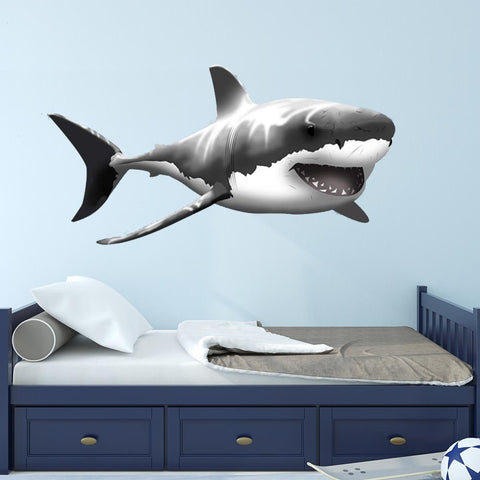 VWAQ Giant Great White Shark Wall Decal Peel and Stick Wall Decor - NA01 - VWAQ Vinyl Wall Art Quotes and Prints