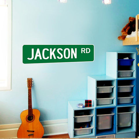 VWAQ Custom Name Street Sign Wall Decal, Personalized Road Signs For Kids Room -NS1 - VWAQ Vinyl Wall Art Quotes and Prints