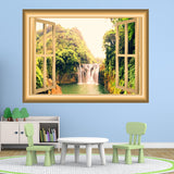 VWAQ Waterfall Window Decal 3D Wall Sticker Peel And Stick Mural - NW34 - VWAQ Vinyl Wall Art Quotes and Prints