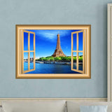 VWAQ Eiffel Tower Wall Sticker Paris Window Decal Peel and Stick Mural - NW7 - VWAQ Vinyl Wall Art Quotes and Prints
