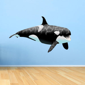 VWAQ Giant Orca Whale Wall Decal Peel and Stick Killer Whale Ocean Wall Art - OCW1 - VWAQ Vinyl Wall Art Quotes and Prints