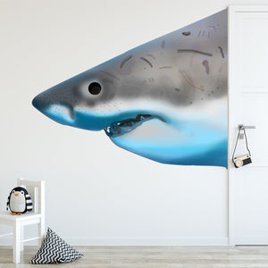 VWAQ Great White Shark Peel & Stick Wall Decal Sharks Head Wall Art Rendition Scary Shark Face - PA22 - VWAQ Vinyl Wall Art Quotes and Prints