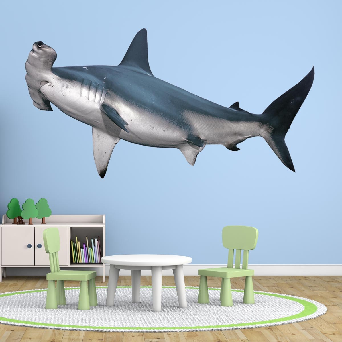 VWAQ Hammerhead Shark Peel and Stick Wall Decal Ocean Room Decor - PAS7 - VWAQ Vinyl Wall Art Quotes and Prints