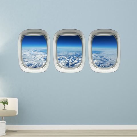 Airplane window decals
