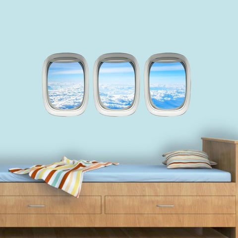 VWAQ Airplane Window View Wall Decals PPW37 - VWAQ Vinyl Wall Art Quotes and Prints