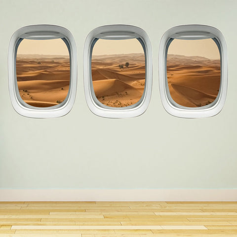 VWAQ Airplane Window Sahara Desert View Aerial Aviation Theme Decor - PPW8 - VWAQ Vinyl Wall Art Quotes and Prints