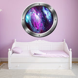 VWAQ Space Nebula Window Porthole Window Decal Universe Wall Decor - PS13 - VWAQ Vinyl Wall Art Quotes and Prints