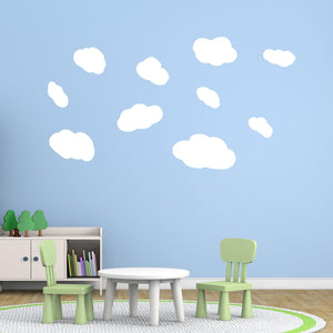 VWAQ Assorted Sized Peel and Stick White Clouds Wall Decals - VWAQ Vinyl Wall Art Quotes and Prints