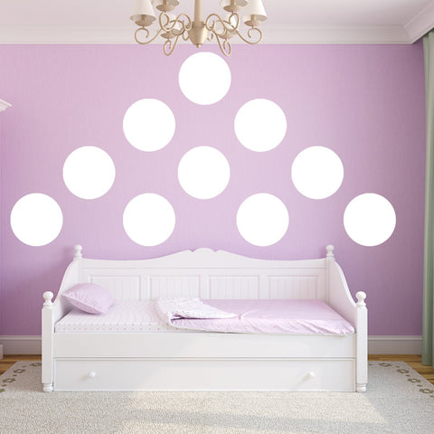 VWAQ Polka Dots Wall Decals Big 12 Inch Peel & Stick Dots Wall Art Colors Kids- MM-118