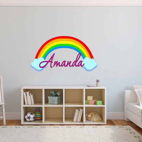 VWAQ Custom Name Rainbow Wall Decal Nursery Decor Girls Room - RB2 - VWAQ Vinyl Wall Art Quotes and Prints