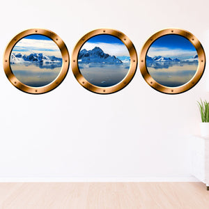 VWAQ Porthole Window Decals For Wall, Arctic Wall Decal - Glacier Wall Art - SPW23 - VWAQ Vinyl Wall Art Quotes and Prints