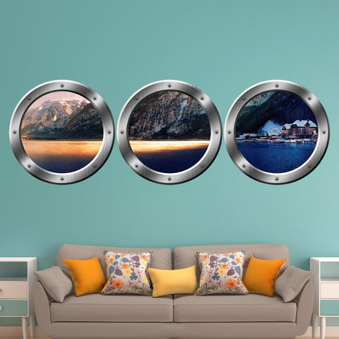 VWAQ Wilderness Wall Decals For Kids - Nature Window Clings Wall Stickers, Submarine Window Decor - SPW26 - VWAQ Vinyl Wall Art Quotes and Prints