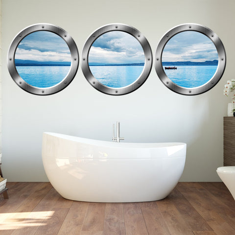 VWAQ PORTHOLE WALL DECAL, Ocean View Stickers - SPW2 no background