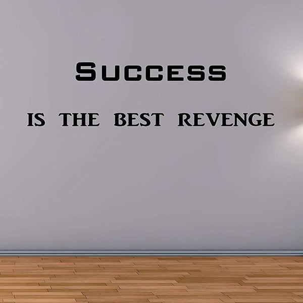 VWAQ Success is The Best Revenge Vinyl Wall Decals Encouraging Wall Quotes