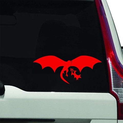 VWAQ Fire Breathing Dragon Decals for Car Windows Auto Decal - VWAQ Vinyl Wall Art Quotes and Prints