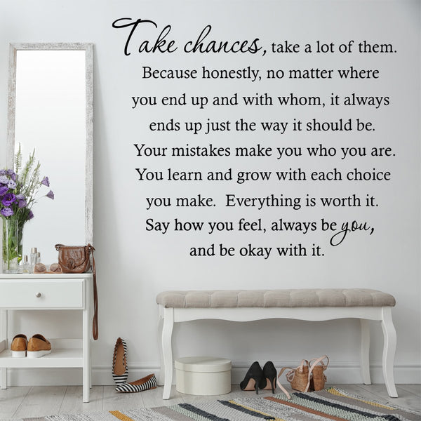 VWAQ Take Chances a Lot of Them Home Decor Vinyl Wall Decal