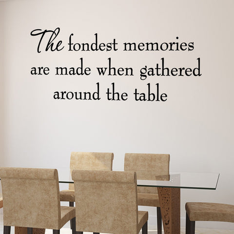 VWAQ The Fondest Memories Are Made Family Vinyl Wall art Decal