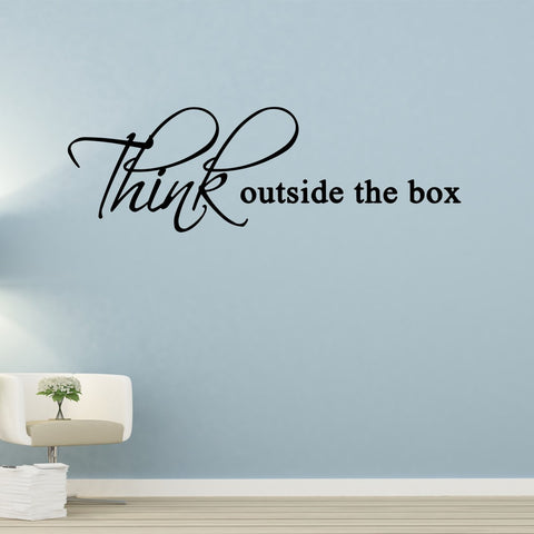 Think Outside the Box Vinyl Wall art Decal