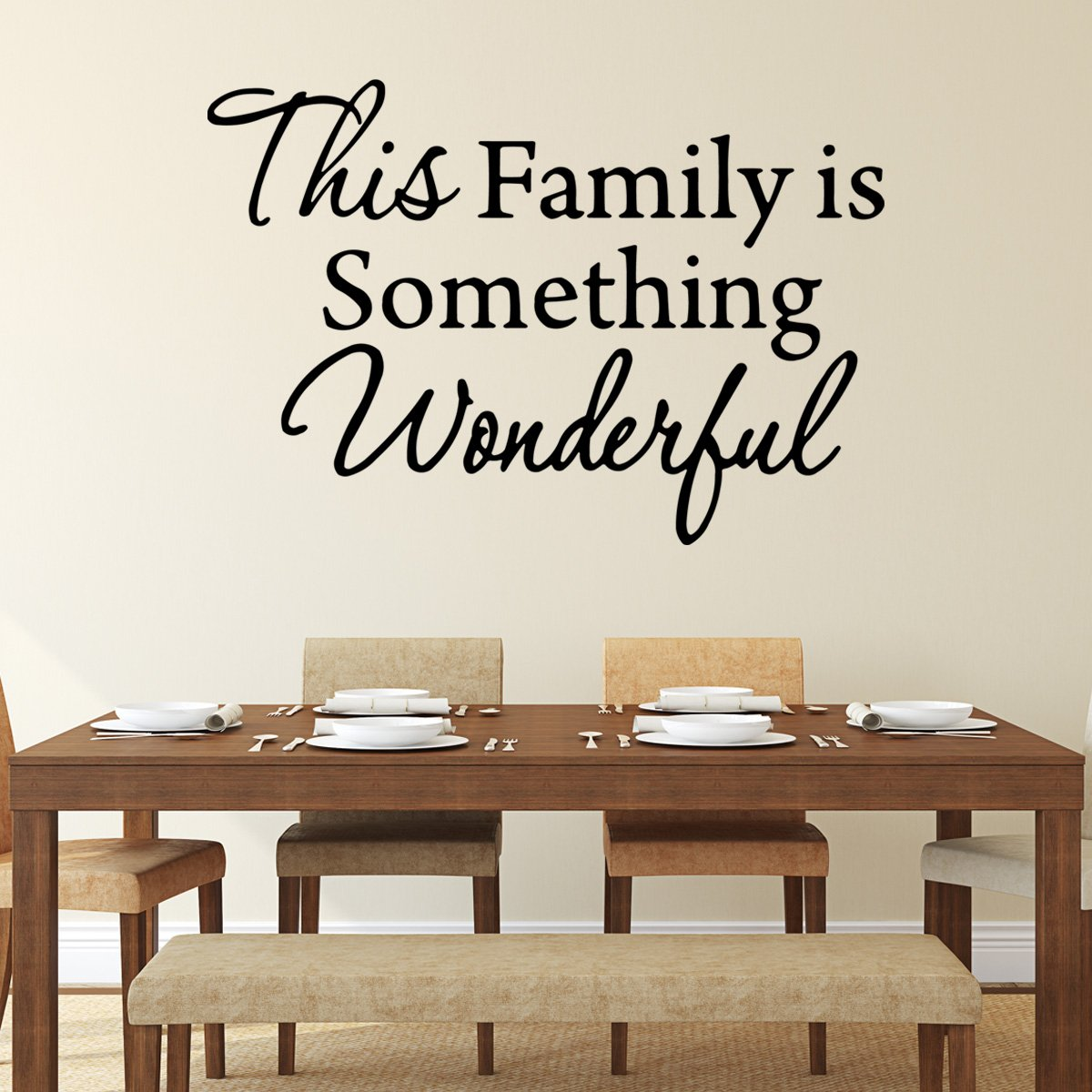 VWAQ This Family is Something Wonderful Vinyl Wall art Decal - VWAQ Vinyl Wall Art Quotes and Prints