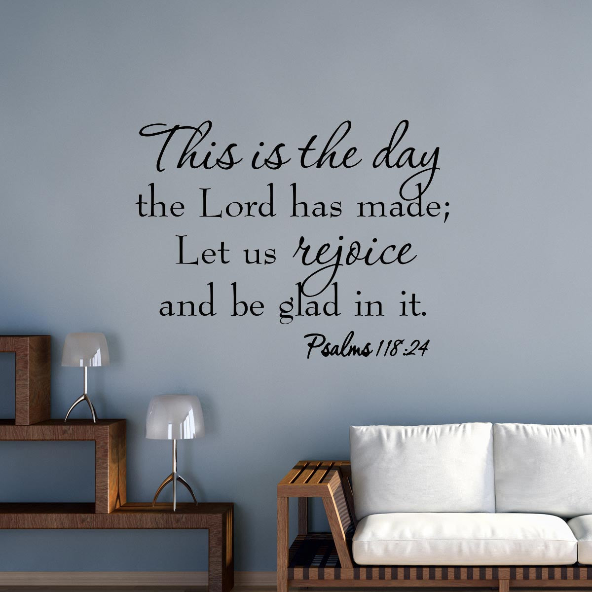 VWAQ This is the Day the Lord Has Made Vinyl Wall Decal #1 - VWAQ Vinyl Wall Art Quotes and Prints