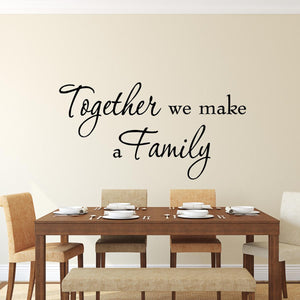 v2 Vinyl Wall Decor Decal Together We Make A Family