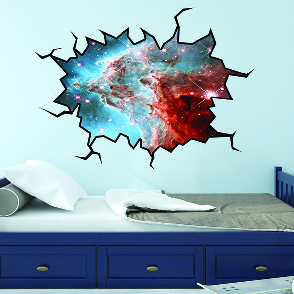 VWAQ Outer Space Stars Wall Decal Universe Sticker Cracked Wall Decal Space - WC5 - VWAQ Vinyl Wall Art Quotes and Prints