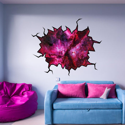 VWAQ Galaxy Wall Decal Nebula Outer Space Cosmic Sticker Hole In The Wall - WC9 - VWAQ Vinyl Wall Art Quotes and Prints