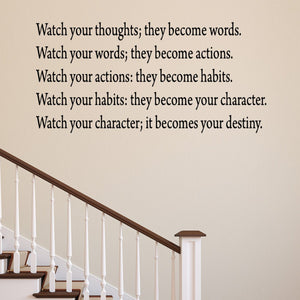 VWAQ Watch Your Thoughts Wall Decal