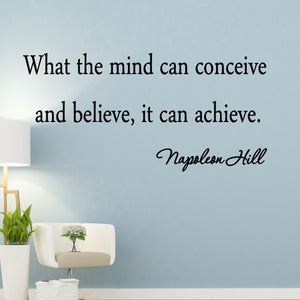 VWAQ What the Mind Can Conceive and Believe, It Can Achieve Wall Decal