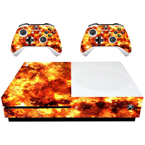 VWAQ Xbox One S Flame Skin Xbox 1 Slim Fire Decal Flames Wrap - XSGC3