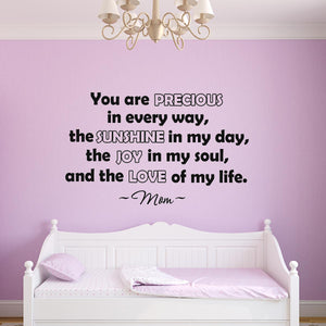 VWAQ You Are Precious In Every Way Vinyl Wall art Decal - VWAQ Vinyl Wall Art Quotes and Prints
