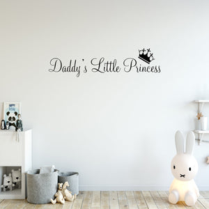 VWAQ Daddy's Little Princess Decal Nursery Wall Quotes - VWAQ Vinyl Wall Art Quotes and Prints