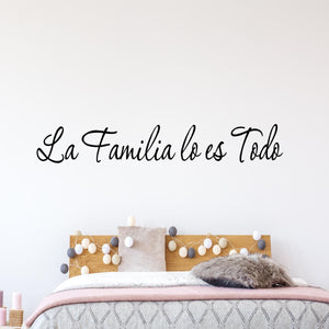 VWAQ Spanish Family is Everything Wall Decal La Familia Lo Es Todo