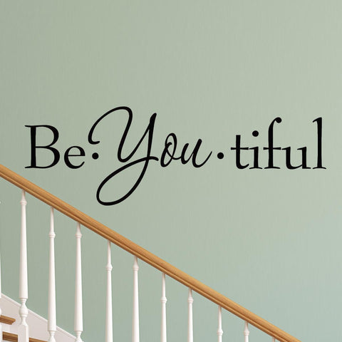 VWAQ Be-You-Tiful Vinyl Wall Quotes Decal - VWAQ Vinyl Wall Art Quotes and Prints
