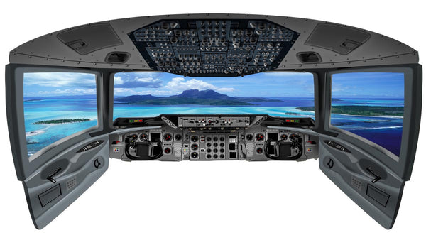Airplane Cockpit Window Ocean Island View - CP1 - VWAQ Vinyl Wall Art Quotes and Prints