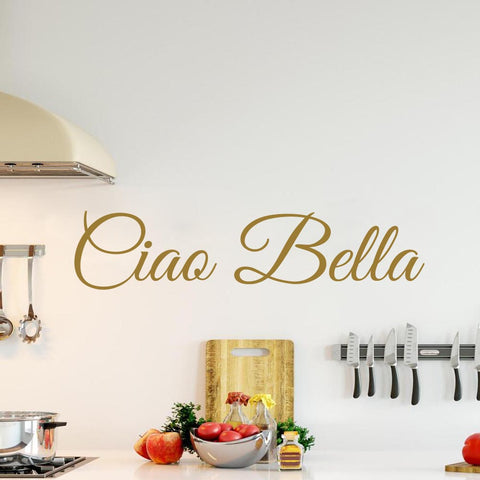 VWAQ Hello Beautiful in Italian Ciao Bella Wall Quotes Decal - VWAQ Vinyl Wall Art Quotes and Prints