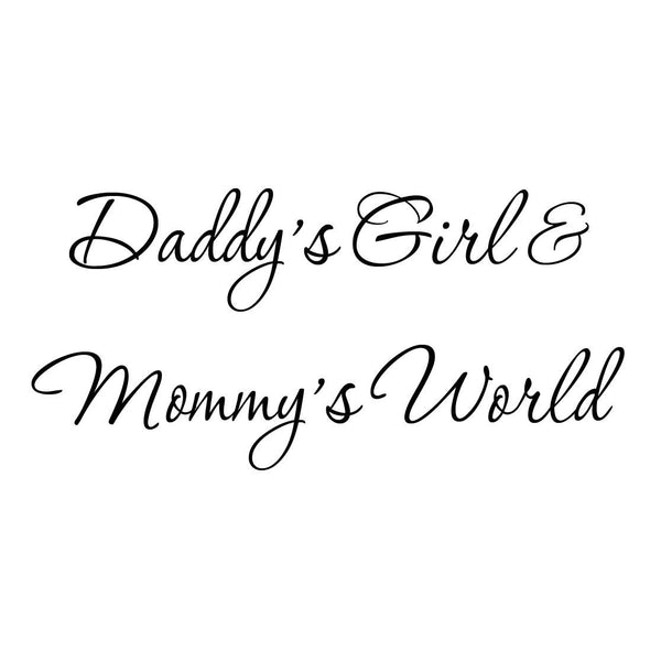 VWAQ Daddy's Girl and Mommy's World Cute Nursery Wall Quotes Decal - VWAQ Vinyl Wall Art Quotes and Prints