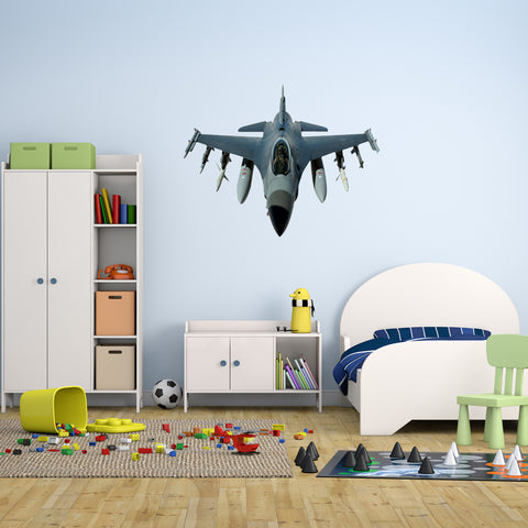 Airplane Super Sonic Jet Vinyl Wall Decal - FJ506 - VWAQ Vinyl Wall Art Quotes and Prints