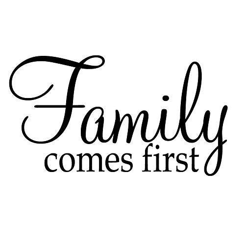 VWAQ Family Comes First Wall Quotes Decal - VWAQ Vinyl Wall Art Quotes and Prints