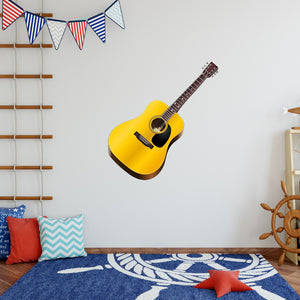Acoustic Guitar Peel and Stick Vinyl Wall Decal - G482 - VWAQ Vinyl Wall Art Quotes and Prints