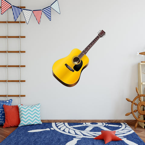 VWAQ Acoustic Guitar Peel and Stick Vinyl Wall Decal - G482 - VWAQ Vinyl Wall Art Quotes and Prints