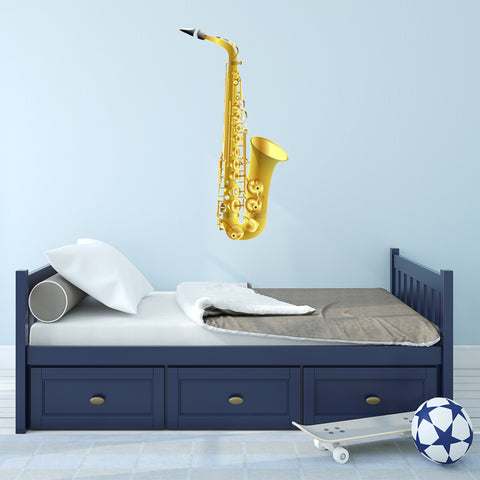 VWAQ Peel and Stick Saxophone Vinyl Wall Decal - G490