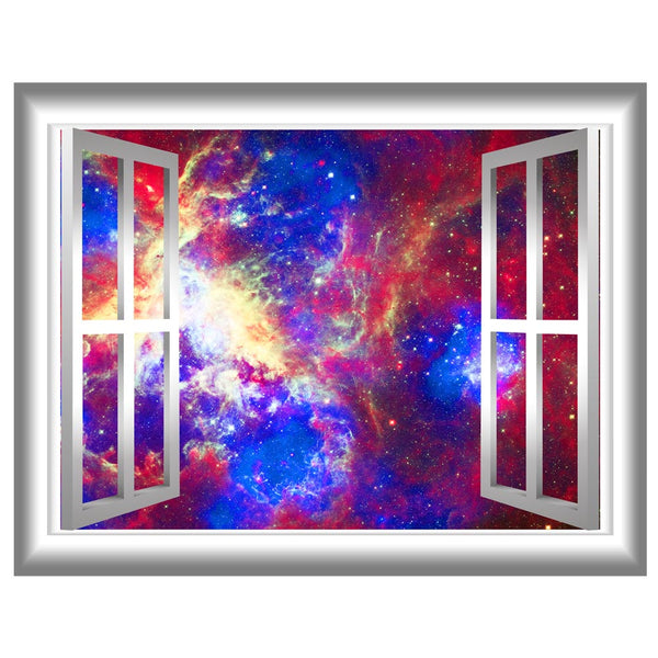 VWAQ Galaxy Nebula Peel and Stick Window Frame Vinyl Wall Decal - GJ93 - VWAQ Vinyl Wall Art Quotes and Prints