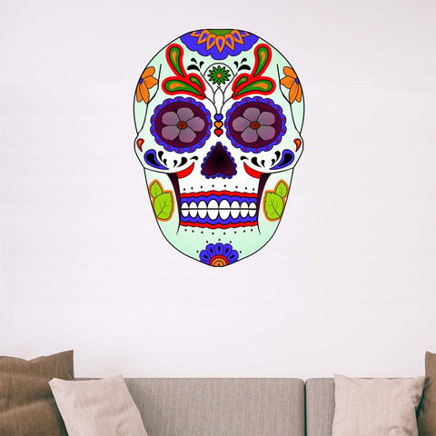 VWAQ Dia De Los Muertos Sugar Skull Wall Decal - GJG3 - VWAQ Vinyl Wall Art Quotes and Prints