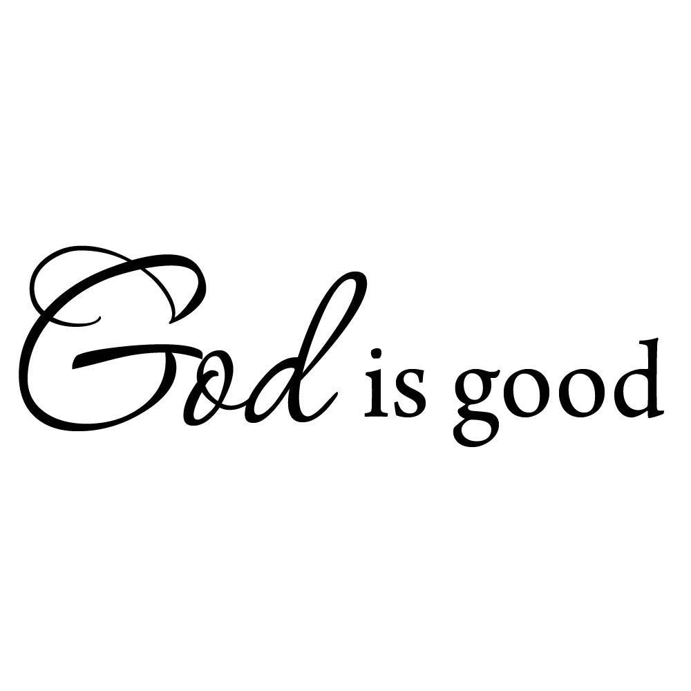 VWAQ God is Good Wall Quotes Decal