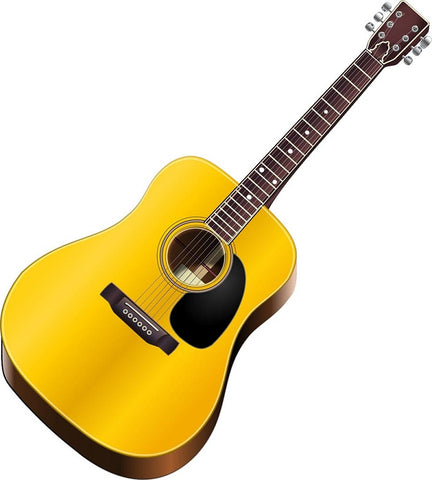 Guitar Acoustic Peel and Stick Wall Decal Music Room Decor VWAQ-G482 Wall Decal