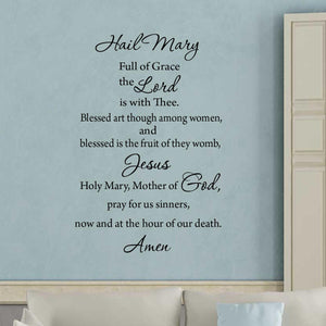 Hail Mary Wall Decal Black