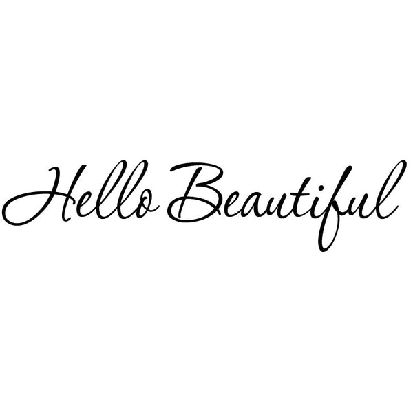VWAQ Hello Beautiful Wall Quotes Motivational Wall Art Decal - VWAQ Vinyl Wall Art Quotes and Prints