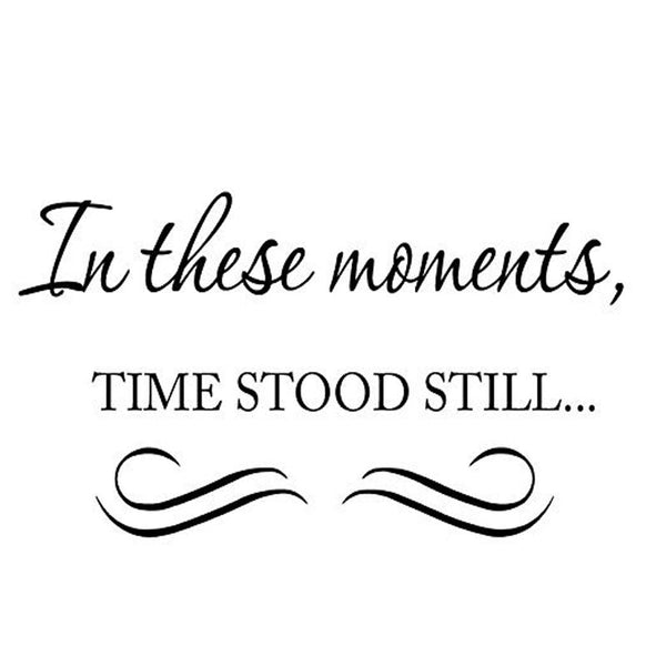 In These Moments, Time Stood Still Vinyl Wall art Decal VWAQ Vinyl Wall Art Quotes - no background