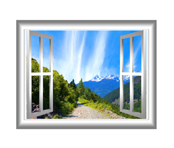 VWAQ Mountain Window Sticker Outdoors Wall Decals Peel and Stick Mural - NW21 - VWAQ Vinyl Wall Art Quotes and Prints